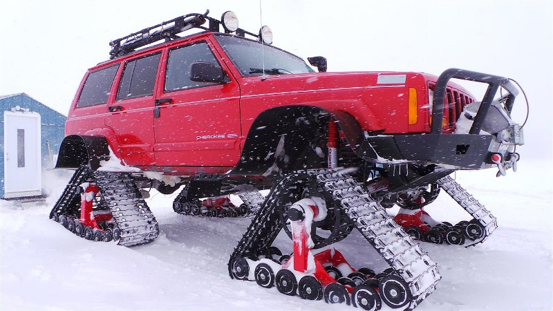 Jeep Cherokee Ice Fishing Rig