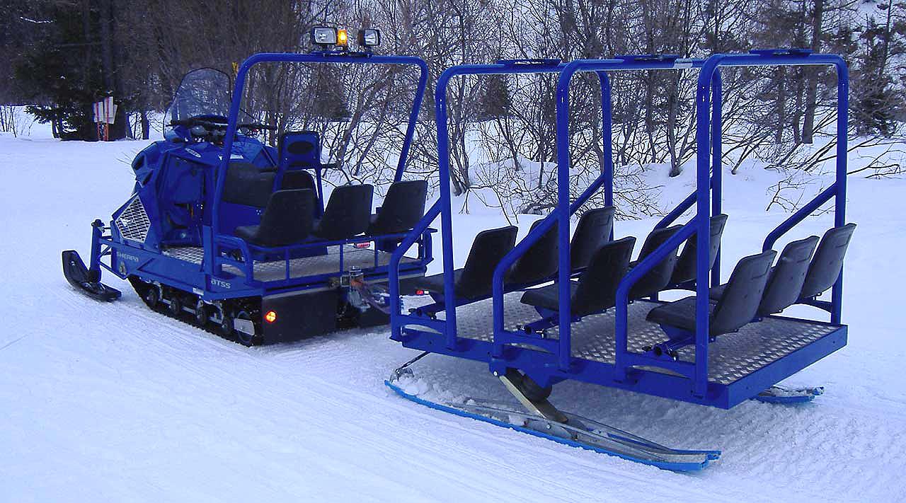 Сани для снегохода пассажирские своими руками